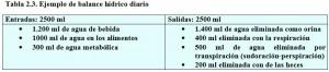 T.2.3. Ejemplo balance hídrico