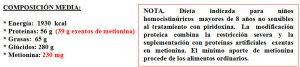 Tabla 5.21. Dieta restringida en metionina (2)